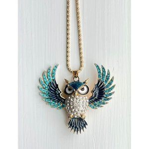 Cute Flying Owl Statement Necklace